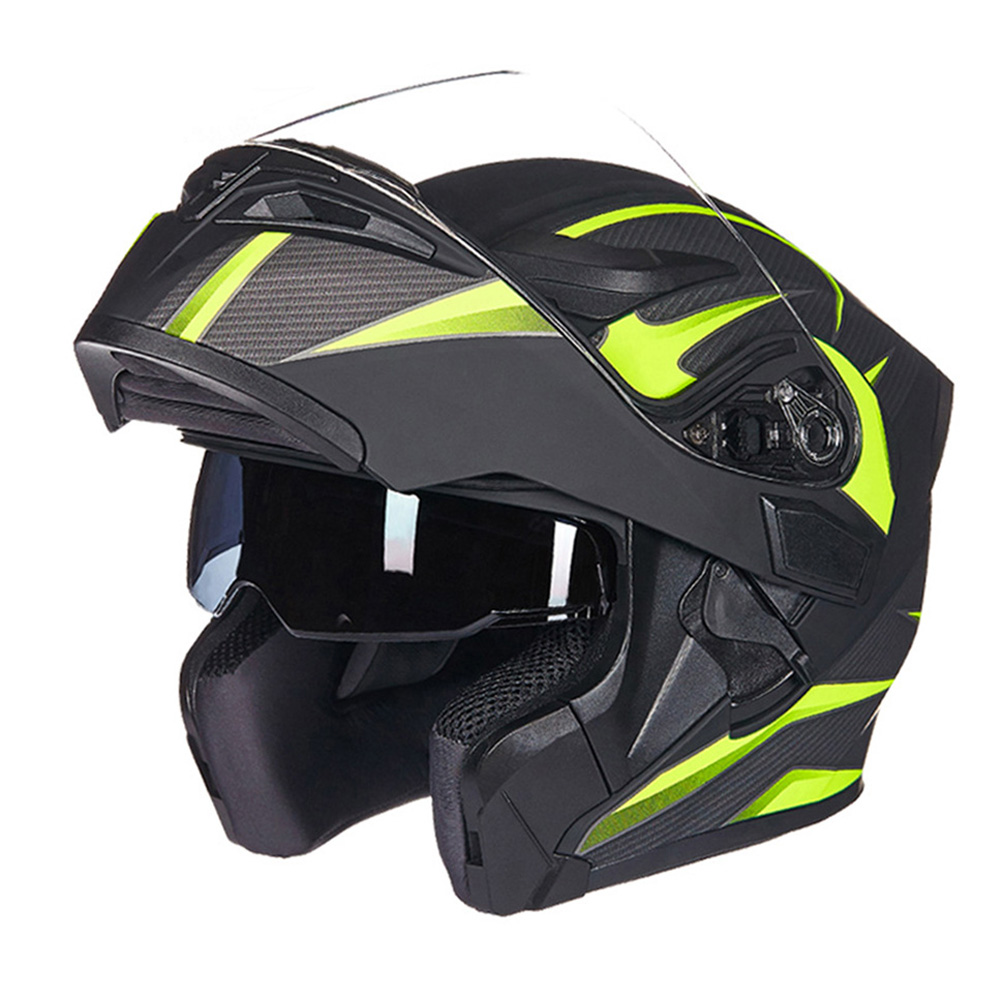 GXT 160 Motorcycle Flip Up Helmet Double Lens Full Face Helmets Racing Headgear