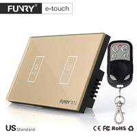 FUNRY Touch Switch 2 Gang 1 Way Smart Control On Off For Home Supplies ST2 US