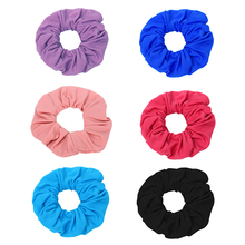 Colorful Women Hair Scrunchies Cotton Ties Wide Rubber Band Elastic Bands for Accessories Headwear