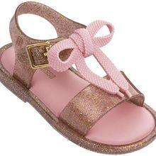 Mini Melissa Girls Sandals Bowtie Jelly Shoes Children Breathable Non-Slip High Quality Summer