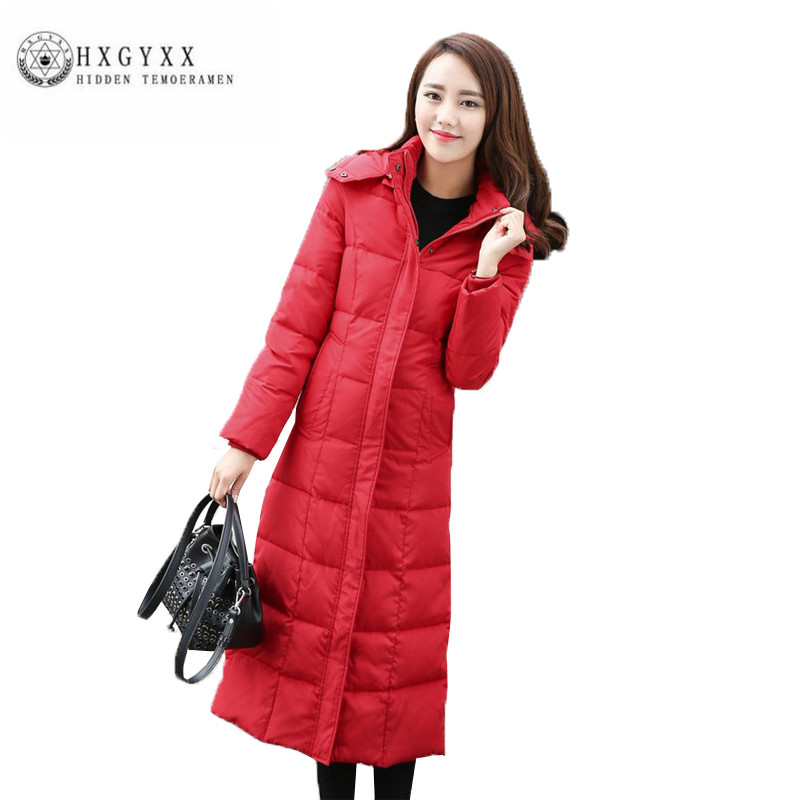 2018 Hot selling Long Winter Women Down jacket New Fashion White duck Down parka Big yards Slim Thick Female Down jacket ZX0207 2017 new winter fashion women down jacket hooded thick super warm medium long female coat long sleeve slim big yards parkas nz18