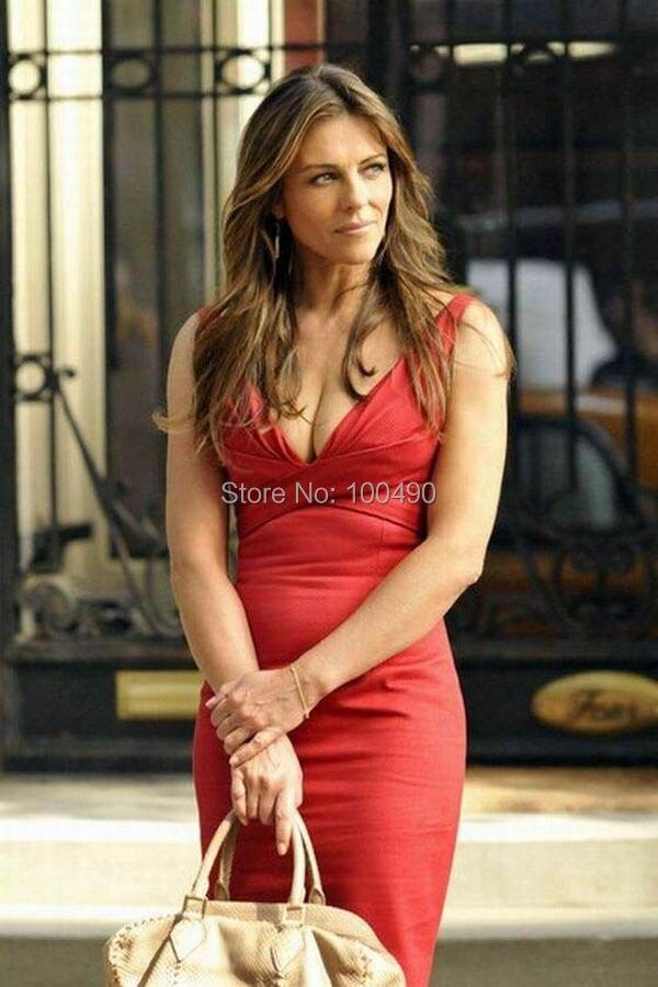 Celebrity Inexpensive Elizabeth Hurley Gossip Girl Sexy Sheath V ...