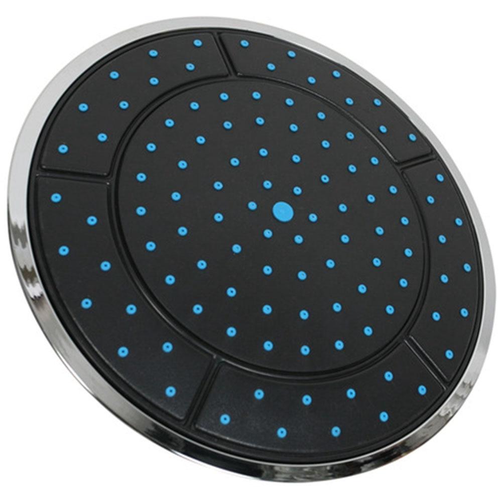 Abkm quente 1 pçs 25 cm plástico forma redonda chuvas alimentado chuveiro chuveiro chuveiro superior cabeça do telhado bico cabine acessórios única cabeça