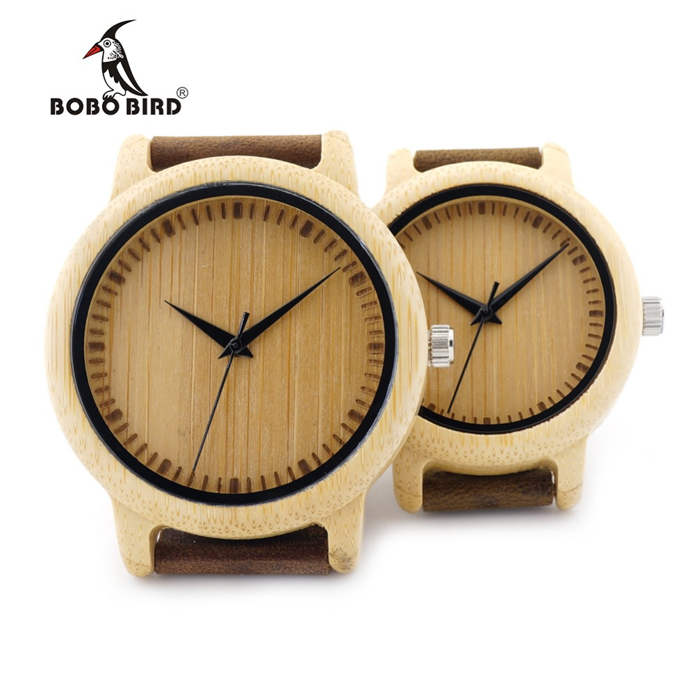 BOBO BIRD A09 Ladies Casual Quartz Watches for Men Natural Bamboo Watch face Women s Brand