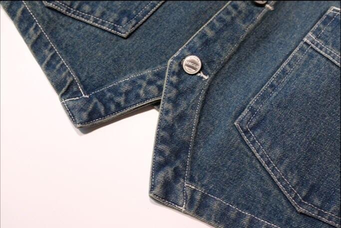 Image 5 - Japan Style Mens Spring  Vintage Denim  Vest  Multi Pocket Cargo Vests  Single Breasted Jeans Vests Jacket Waistcoat  Ds50302-in Vests & Waistcoats from Men's Clothing