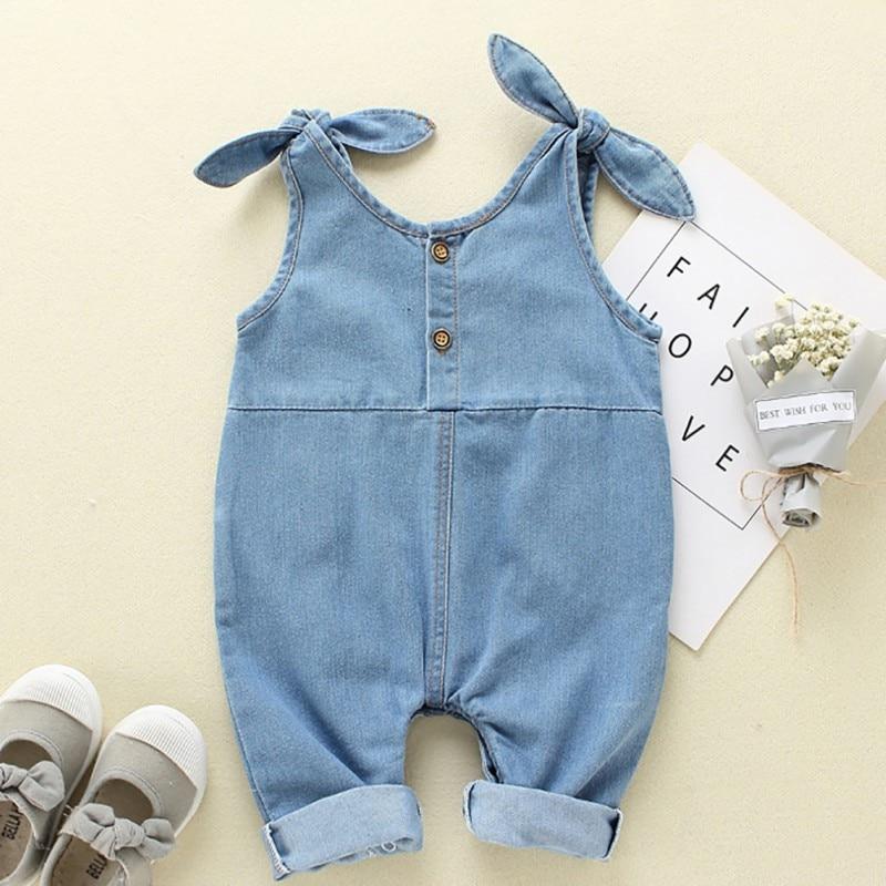 Toddler Overalls Baby Girls Suspender Denim Pants Cotton Baby Boy Overalls Girls Cute 2019 New Summer Overalls Pants For Kids in Overalls from Mother Kids