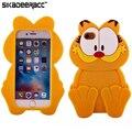 Мягкий 3D Garfield Силиконовые Телефон Дела Для iPhone 5s 6 s 7 плюс SE Мобильных Телефонов Противоударный Защитный Чехол Назад Обложки Shell DC58