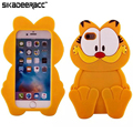 Soft 3D Garfield Silicone Phone Cases For iPhone 5s 6s 7 Plus SE Mobile Phones Shockproof Protective Back Covers Shell DC58