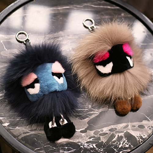 18 cm Fluffy Real Fur Pom Poms Bug Little Monster Bag Charm Genuine Pompom Ball Keychain Luxury Car Jewelry Pendant Key Chains цены онлайн