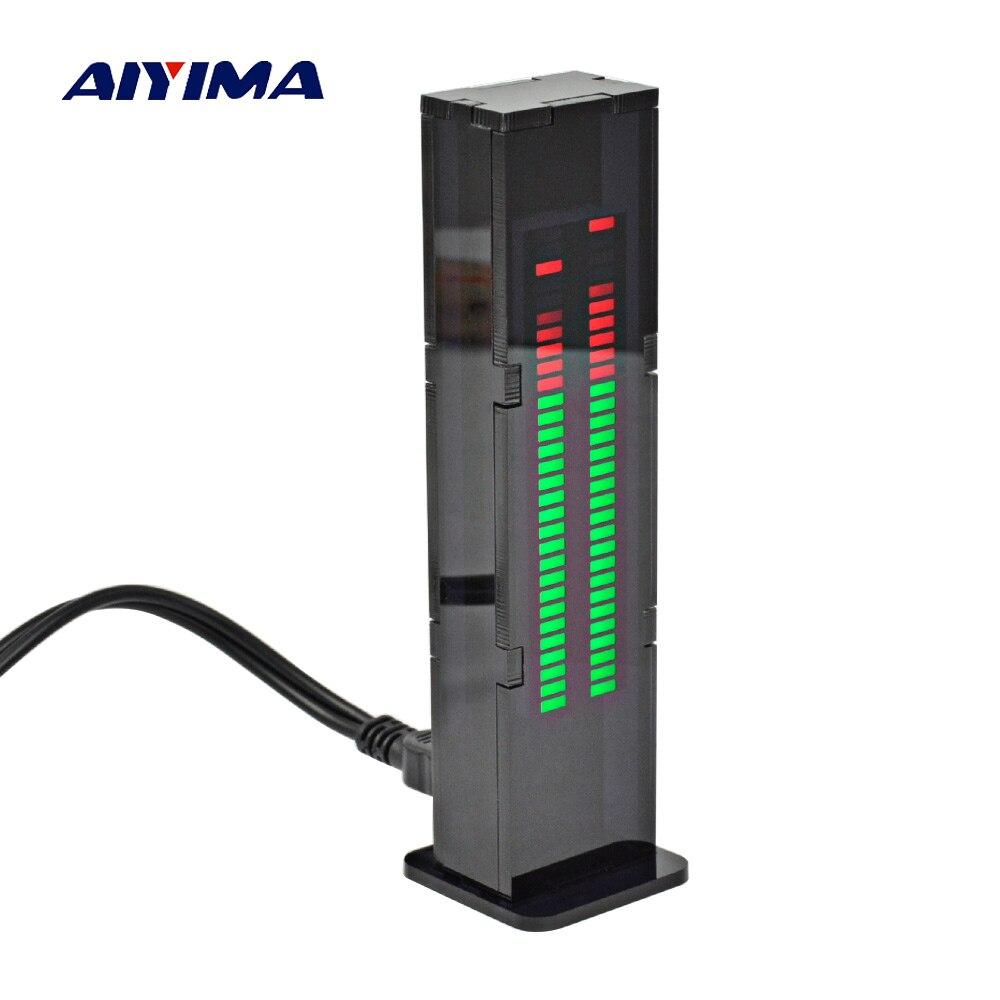 Aiyima AS30 LED música de espectro de Audio indicador tablero amplificador SCM estéreo indicador de nivel medidor VU de velocidad ajustable con el caso