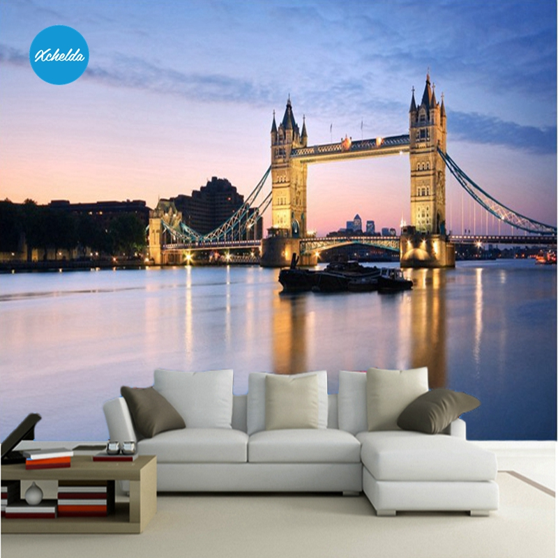 XCHELDA Custom 3D Wallpaper Design London Bridge Photo Kitchen Bedroom Living Room Wall Murals Papel De Parede Para Quarto kalameng custom 3d wallpaper design street flower photo kitchen bedroom living room wall murals papel de parede para quarto