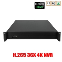 36CH 24CH 16CH H.265 HDMI CCTV NVR 720P/960P/1080P/3MP/5MP/2K/4K NVR Onvif P2P 4PCS SATA H.264 Security Network Video Recorder