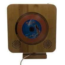 New Bamboo Touch Clave En Montado En La Pared Reproductor de CD CD de Soporte, Diente azul, FM Radio MP3, USB, 3.5mm Salida de Audio Estéreo,