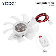 YCDC VGA 12V CPU Heat Sink Fan Cooling Fan 60mm 6cm Computer PC Cooler Exhaust Blower 2 Pins Black