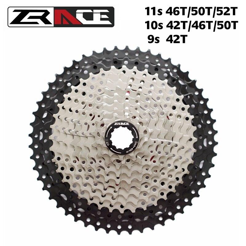 ZRACE Bicycle Cassette 9s 10s 11s MTB Bike Freewheel 11-42T / 11-46T / 11-50T / 11-52T for Shimano ALIVIO / DEORE / SLX / XT