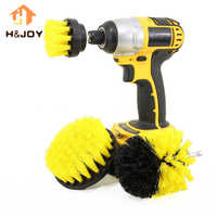3pcs Power Scrubber Brush Drill Brush for Household | Rotating Drill Brush Scrub Bathroom Cordless Drill Attachment Cleaning Kit