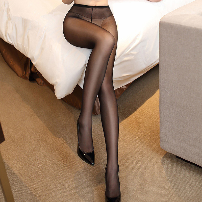 12b9e846a Aliexpress.com   Buy Black Nude See Through Close Crotch Sexy Pantyhose  Tights For Women Sexy Lingerie Hot Crotchless Sheer Stockings Smoothly  Fabric from ...