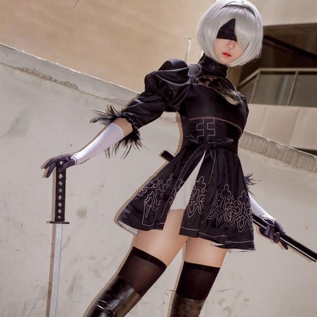 2016 New Game NieR:Automata Cosplay Costume 2B YoRHa No. 2 Type B Heroine