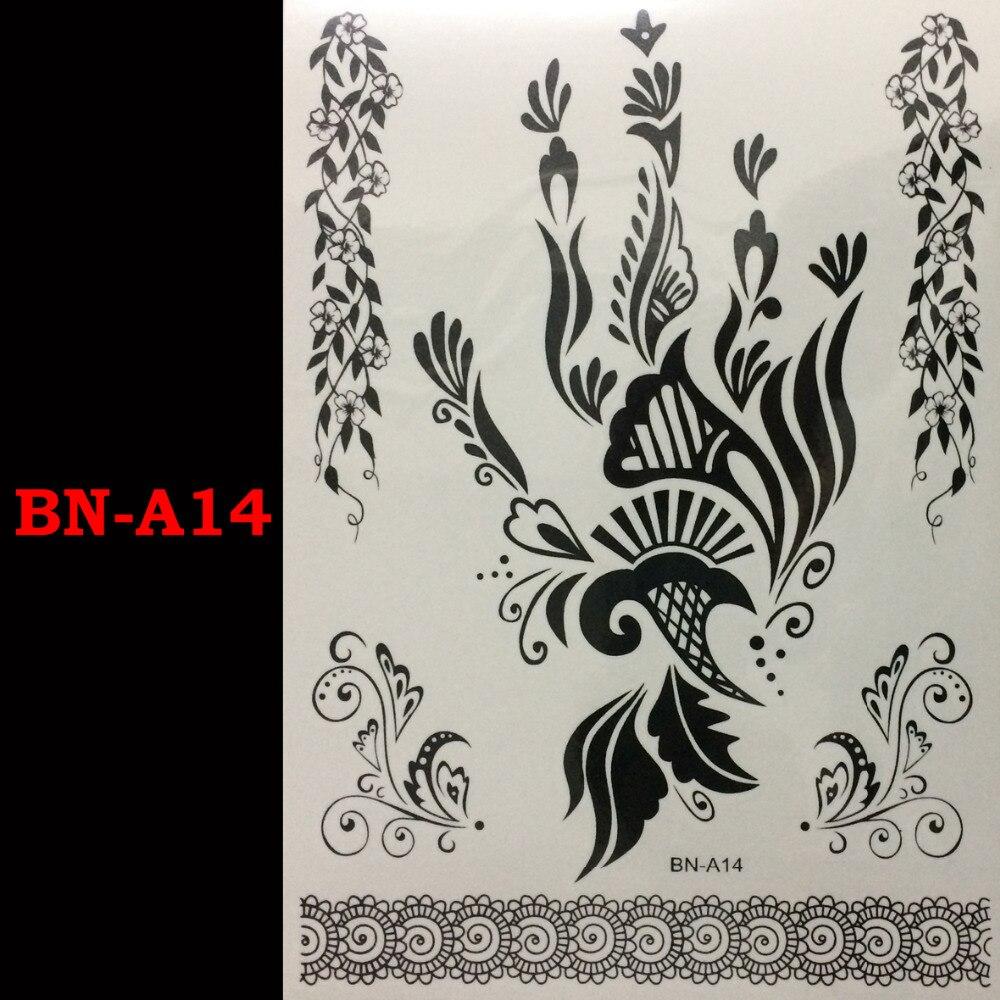 Henna Lace Bracelet Temporary Tattoo Sticker: Black Lace Flower Bracelet Temporary Tattoo Flash Tattoo