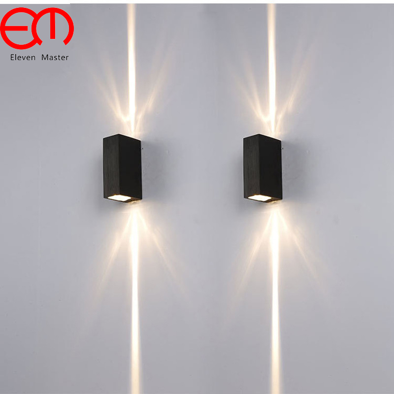 2 Narrow Beam Led Waterproof Wall Lamp Indoor Outdoor Ip65