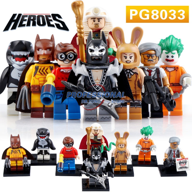 PG8033 Super Heroes Catman Arkham Asylum Joker Dick Grayson Orca King Tut Glam Metal Batman 2017 Kids Toys patterson james the murder of king tut