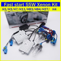 Free Shipping HID Xenon Conversion Kit F5 Fast Start Slim Ballast 55W H1 H11 H3 H7