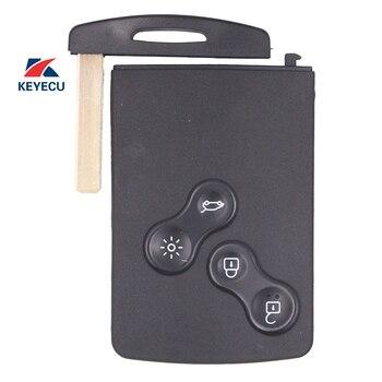 Keyecu renault 433-2009 clio 용 원격 차량 키 fob 4 버튼 2014 mhz pcf7953, 열쇠가없는 기능 포함