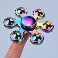 Rainbow Bauhinia Flower Star Fidget Spinner Hand Finger Autism And ADHD Reduce Stress Focus Finger Toys
