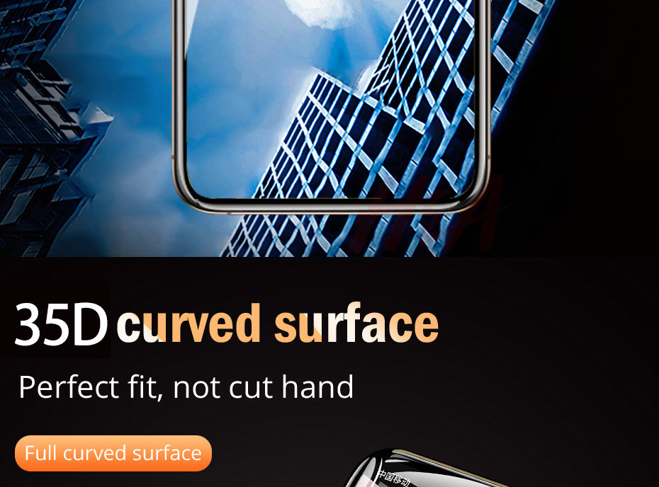 35D Curved Edge Tempered Screen iPhone Protective Glass 27