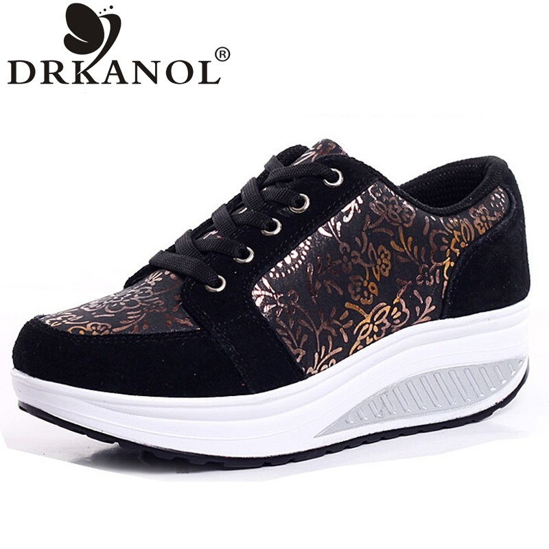 DRKANOL Hot Spring Summer Swing Shoes Woman Low Top Lace Up Flat Platform Casual Shoes High Quality Women Shoes Size 35-40 summer women shoes casual cutouts lace canvas shoes hollow floral breathable platform flat shoe sapato feminino lace sandals