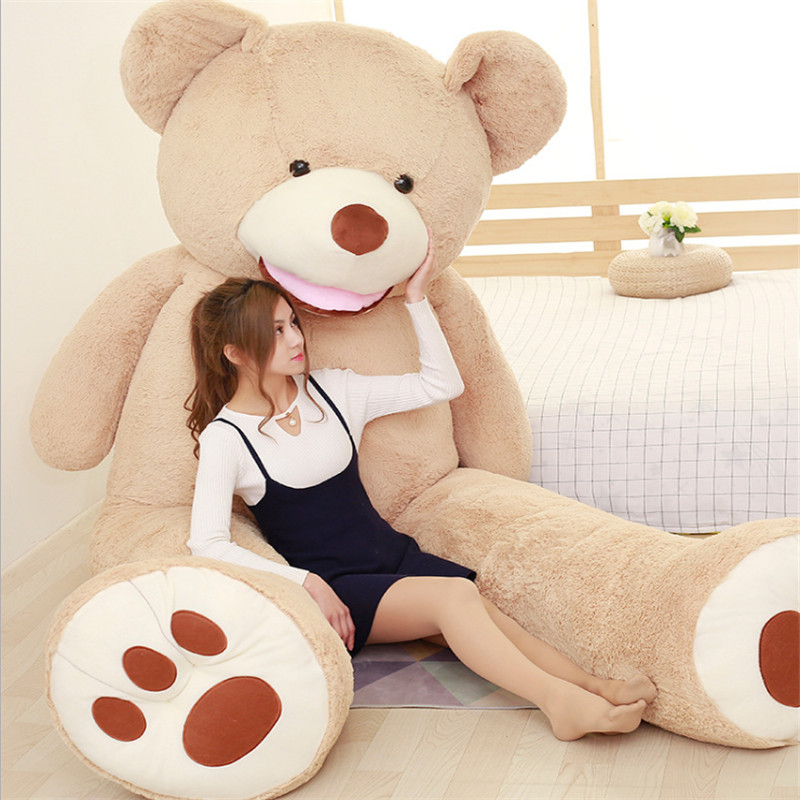 Christmas Gift 200cm Oversized Real Life Teddy Bear Toys for Children Large Plush Toys Soft Toys Dolls Juguetes Brinquedos