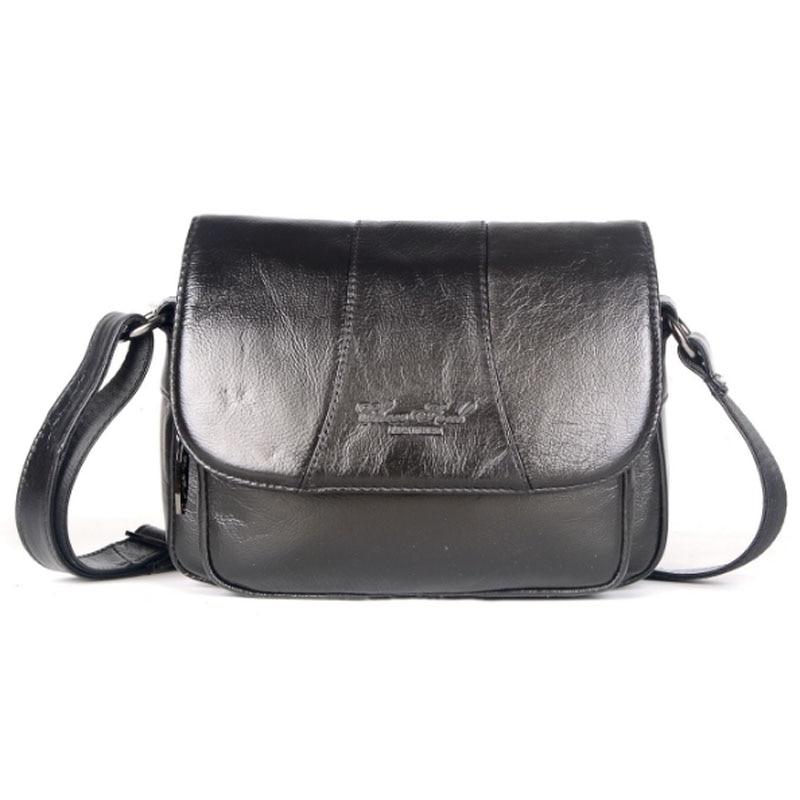 цена на 2018 New Women High Quality Genuine Leather Single Shoulder Bag Handbag Fashion Designer Messenger Shoulder Bags Handbags