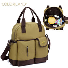 COLORLAND Diaper Bag Organizer Fashion Mummy Maternity Bag Large Baby Diaper Handbag Mom Backpack Messenger Changing Nappy Bags