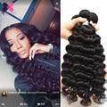Hj Weave Beauty Deep Wave Indian Hair 3 Bundles Raw Indian Virgin Hair Deep Curly Weave Human Hair Black Friday Deals 100g/pcs