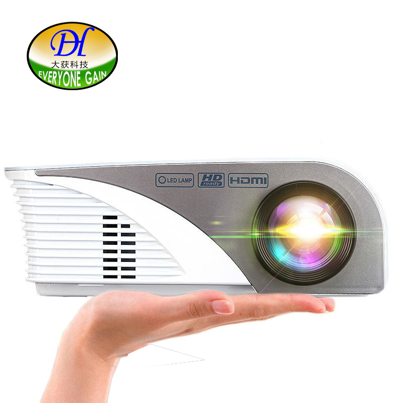 Everyone Gai Style Smartphone Projector 1200 Lumens Support 1080p Video Via Hdmi Vga Usb Av Mini321 For Home Theater Play Games gai jin