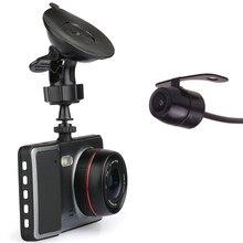Dual Camera Full HD Car DVR Black Box + Rear Parking Camera – 1080P HD, G-Sensor, Loop Recording, Motion Detection IPS Screen