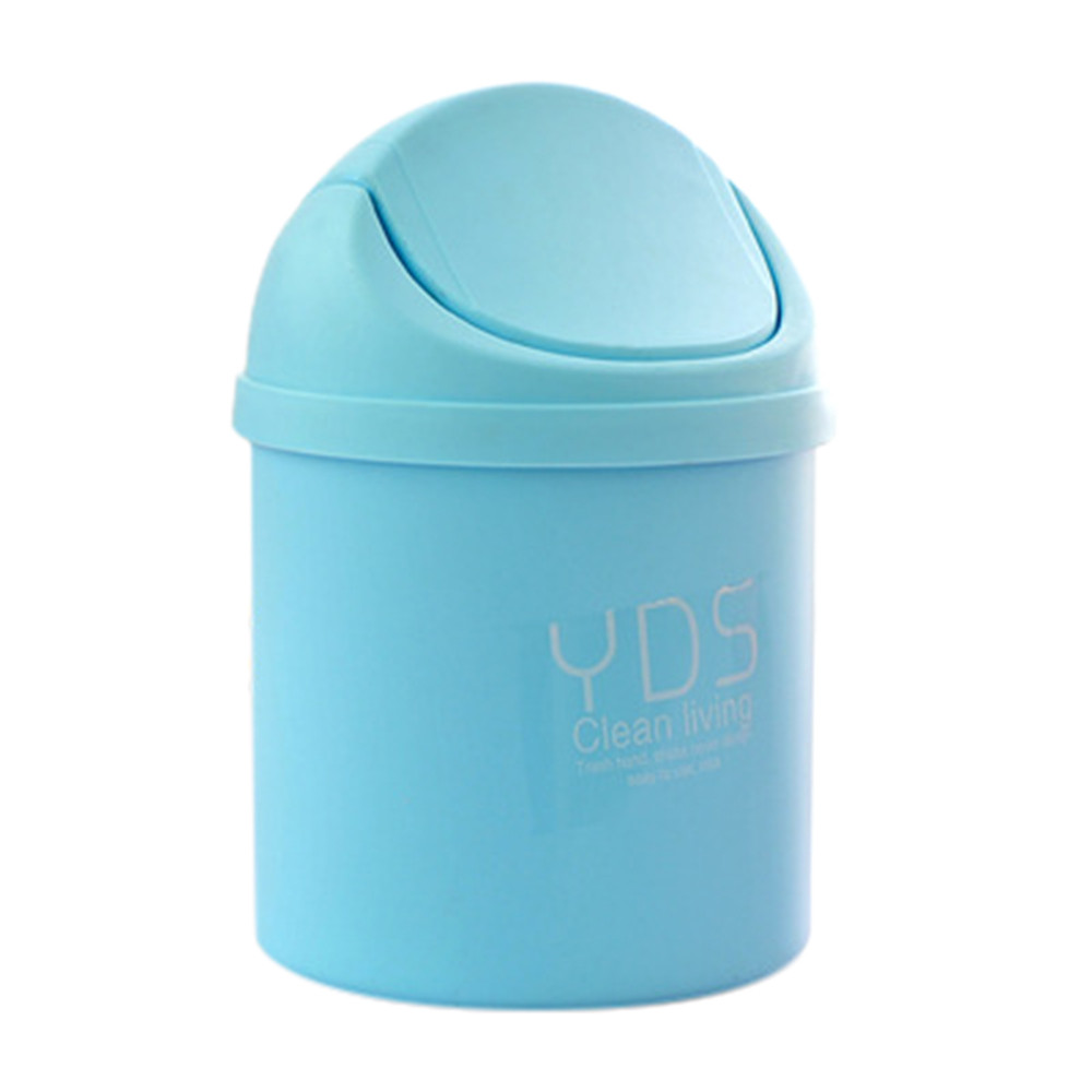 Wholesale High Quality Trumpet Desktops Mini Creative Covered Kitchen Living Room Trash Can Popular Water Bins #2630