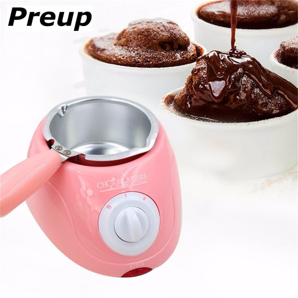 PREUP Durable Stainless steel&Plastic Hot Chocolate Melting Pot Electric Fondue Melter Machine Set DIY Tool EU plug vasos sanitários coloridos