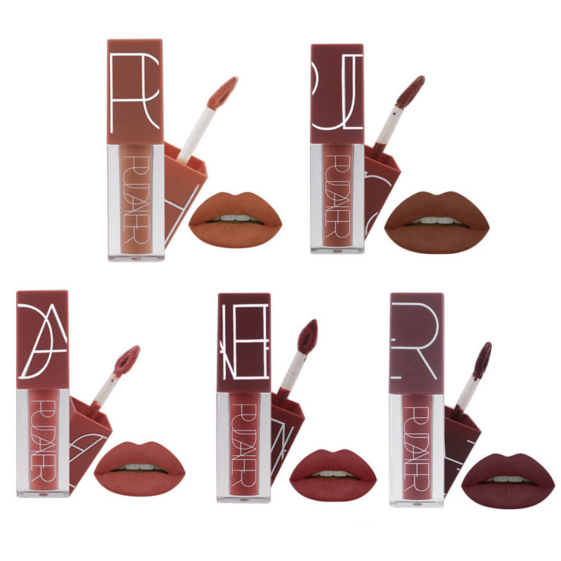 Hot Brand Long Lasting Velvet Lips Tint Liquid Lipstick Matte Beauty Cosmetics Sexy Nude Pigment Matte Lip Gloss Tattoo Makeup