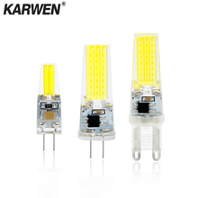 G4 Светодиодный светильник G9 3 Вт 6 Вт 9 Вт COB светодиодный светильник E14 AC DC 12 В 220 В лампада светодиодный G9 COB 360 луч лампада G4 COB лампы заменить галогенные