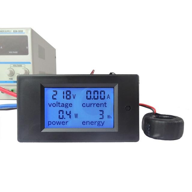 AC 80 В-260 В 100A 4 в 1 цифровой ЖК-дисплей Дисплей Цифровой Текущий Вольтметр Амперметр Мощность энергия мультиметр тестер экранов метр монитор