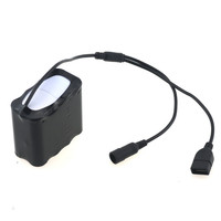 New 8 section 18650 20000mah battery pack USB plus DC interface LED bicycle headlight power supply bicycle light battery