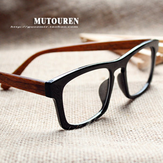 2014 new wood frame glasses handmade eyeglasses frame large framed glasses myopia non mainstream