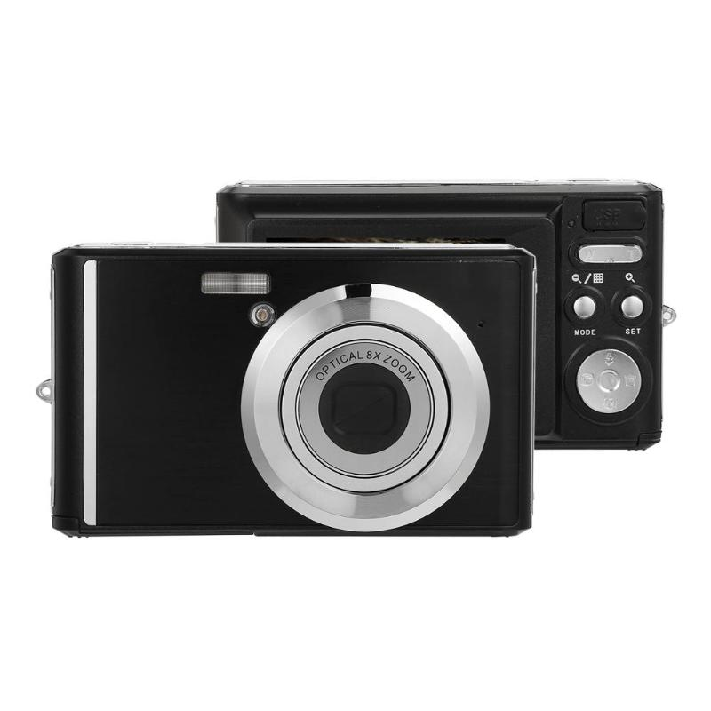Ultra Thin 2.4 Inch Digital Camera 8X Optical Zoom Telescopic Lens 20MP HD Camcorder Video Recorder with Macro Lens