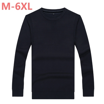8XL 6XL 5XL 4XL Brand Casual Sweater O-Neck Solid Slim Fit Men Long Sleeve Patchwork Male Pollover Sweater Clothes agasalho masc