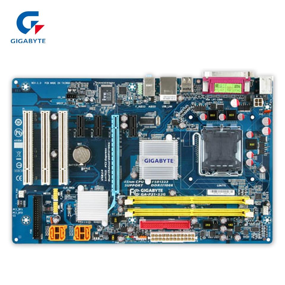 Gigabyte GA-P31-S3G Original Used Desktop Motherboard P31-S3G P31 LGA 775 DDR2 4G SATA2 ATX g31 ga g31 s3g ddr2 a 775 ddr2 usb2 0 vga motherboard integrated graphics 100% tested perfect quality