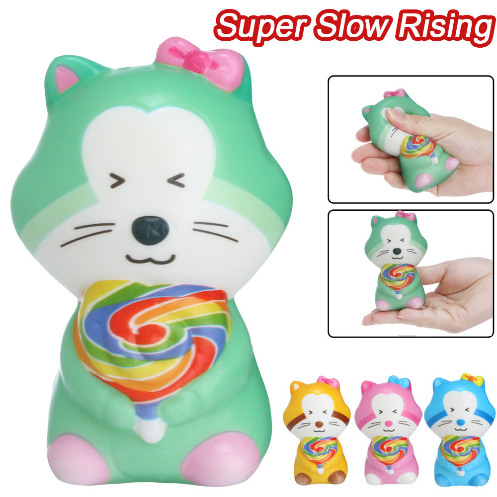 Squishies Toy Kawaii Adorable Cat Toy Slow Rising Cream Scented Stress Relief Toys Gifts Squish Antistress Toys W520