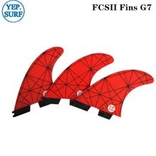 цена на Surf FCS2 Fins G7 Light Red FCS II Tri fin set Fiberglass upsurf new design