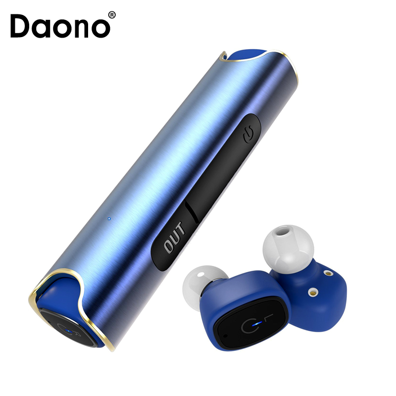 DAONO IP67 waterproof S2 Bluetooth headset 850 mAH Charger box TWS Binaural Stereo wireless earbuds For iPhone android PK X2T