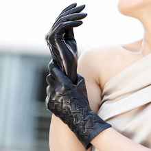Top Quality Suede Genuine Leather Glove For Women Short Winter Glove Fashion  New 1 Pair/Lot
